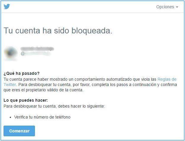 Qué hacer cuando te bloquean la cuenta de Twitter