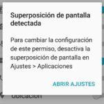 Cómo solucionar el error de superposición de pantalla detectada