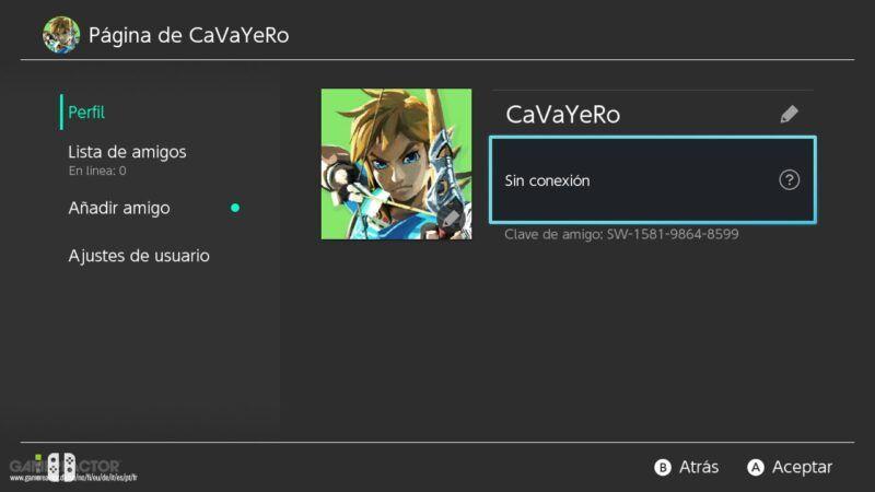 Cómo añadir amigos en Nintendo Switch
