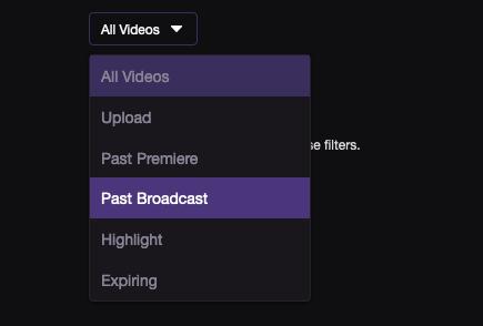 Descargar videos en Twitch VOD