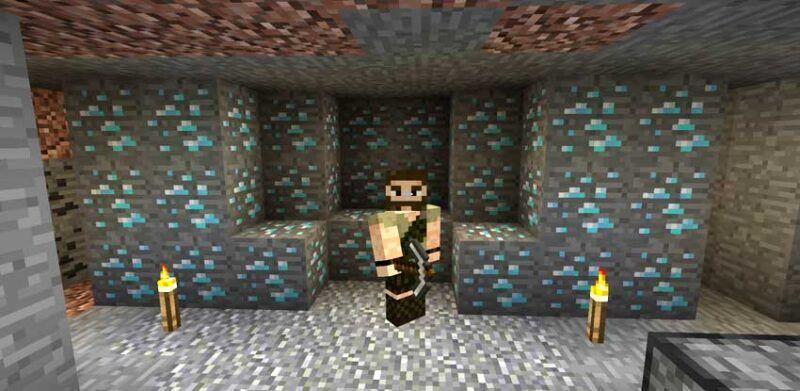 Diamantes en Minecraft