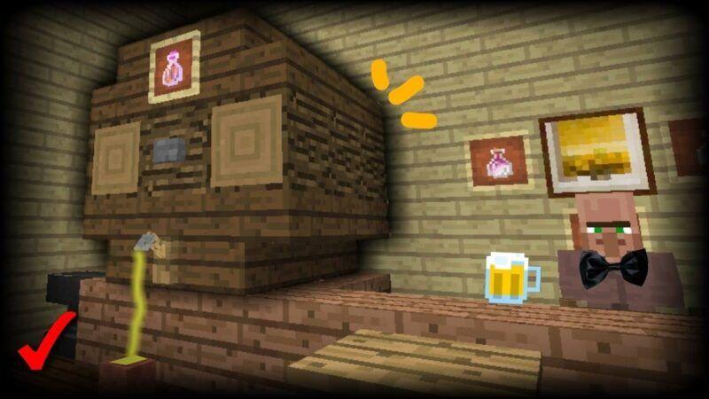 Elaboración de cerveza en Minecraft