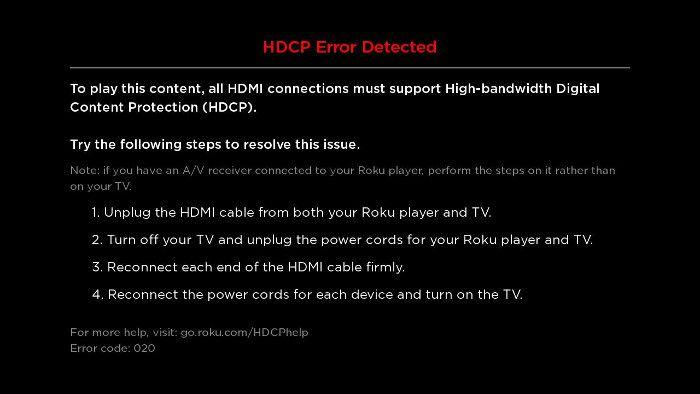 Error HDCP