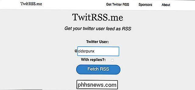 Feed RSS de Twitter
