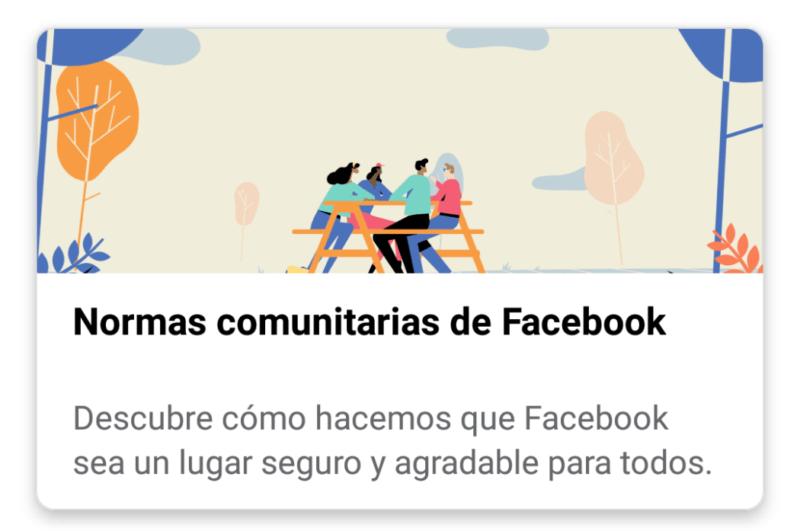 Normas comunitarias de Facebook