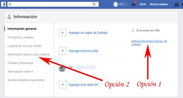 Ocultar mensajes en Facebook