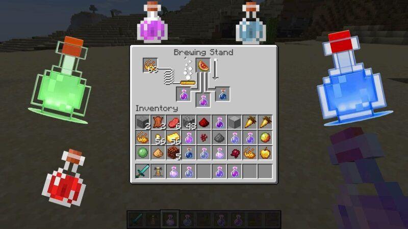 Cómo hacer una poción de rapidez en Minecraft