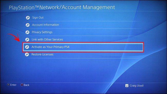 Reiniciar tu PS4