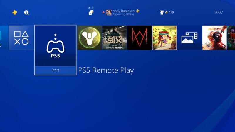 Cómo usar el Remote Play de PS5 para hacer streaming a PS4