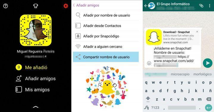 Añadir enlaces en Snapchat