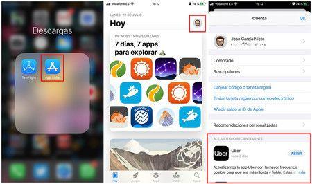 Aplicaciones de  iPhone actualizadas