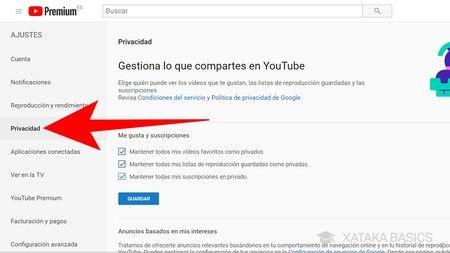 Cambiar privacidad de los vídeos de YouTube