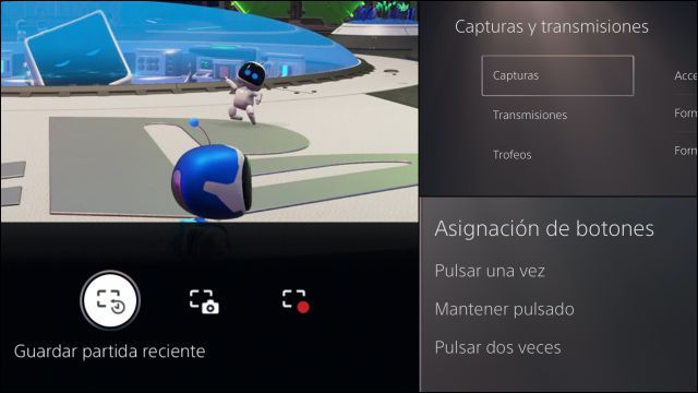 Captura de pantalla en PS5