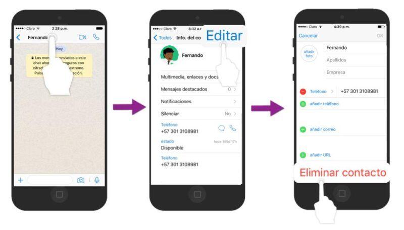 Cómo eliminar cualquier contacto de WhatsApp