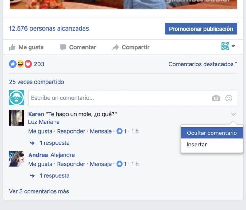 Cómo eliminar un comentario en Facebook
