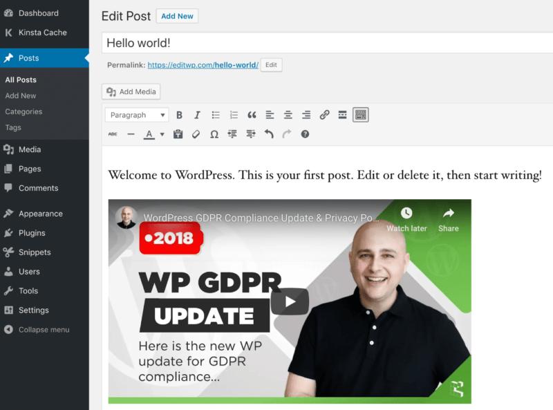 Cómo incrustar un vídeo de YouTube en su blog de WordPress