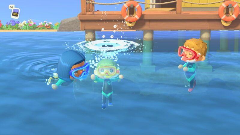 Cómo nadar en Animal Crossing: New Horizons