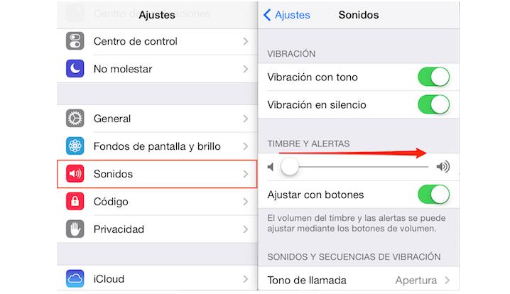 Comprobación de sonido en el iPhone