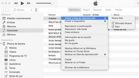 Consultar canciones de una lista de reproducción de iTunes