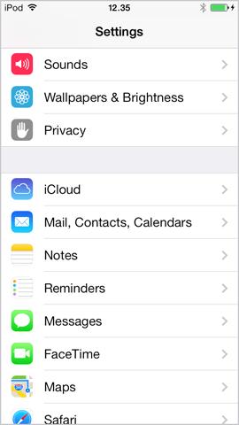 Correo del iPhone