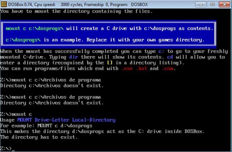Cómo utilizar DOSBox
