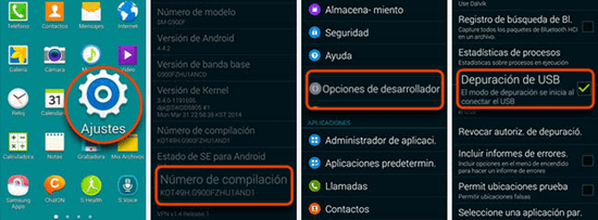 Depuración USB en Android