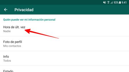 Deshabilitar recibos de lectura de WhatsApp