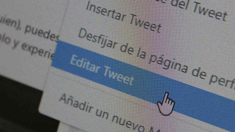 Editar un tuit