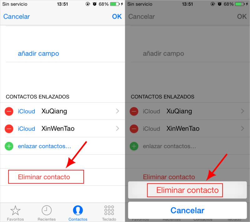 Cómo eliminar uno o varios contactos en tu iPhone