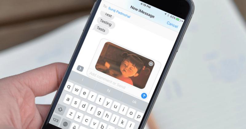 Encontrar GIFs en un iPhone