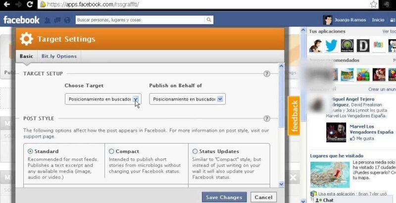 Cómo hacer publicaciones en Facebook a partir de una fuente RSS