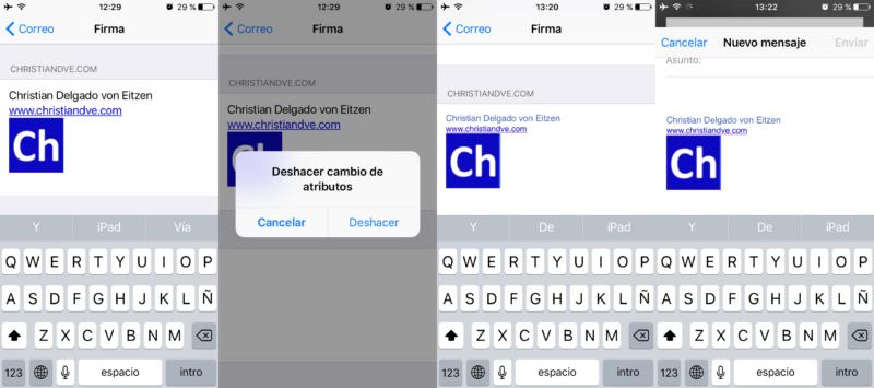Cómo utilizar el formato de texto enriquecido en su firma de correo de iOS