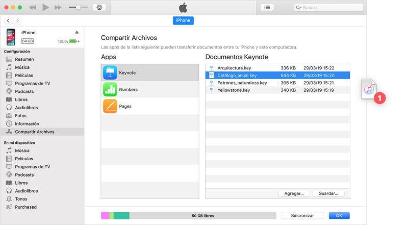 Cómo utilizar la función de compartir de iTunes