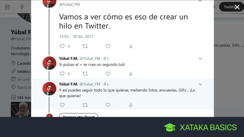 Hilo en Twitter