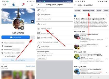 Limpiar tu perfil de Facebook