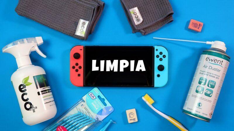 Cómo limpiar y mantener tu Nintendo Switch