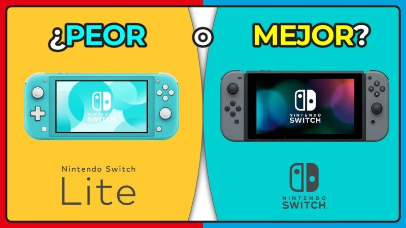 Nintendo Switch vs Nintendo Switch Lite: ¿Qué consola es mejor para ti?
