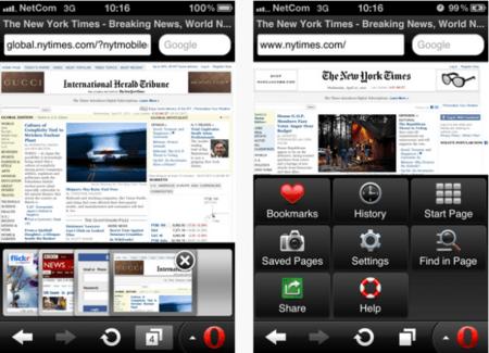 Opera Mini para iPad