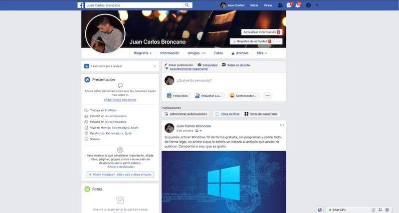 Cómo editar tu perfil de Facebook