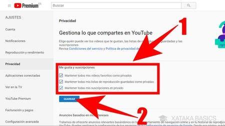 Privacidad de YouTube