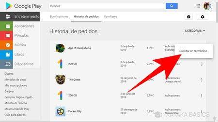 Reembolso de Google Play