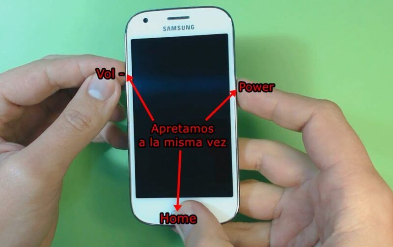 Reiniciar dispositivo Samsung