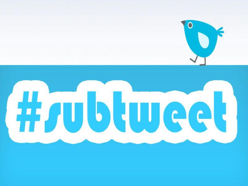 ¿Qué es un subtweet en Twitter?