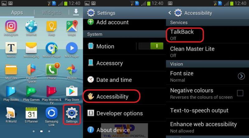 Cómo configurar y utilizar la aplicación Talkback de Android