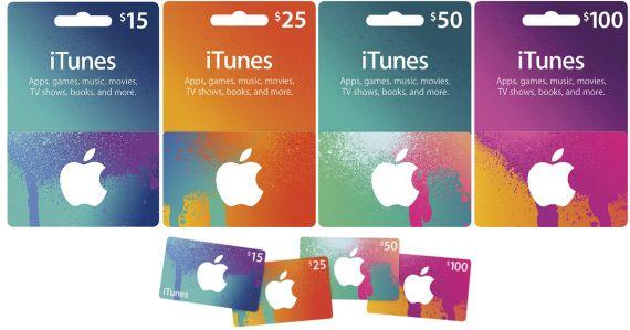 Tarjeta regalo de Apple.