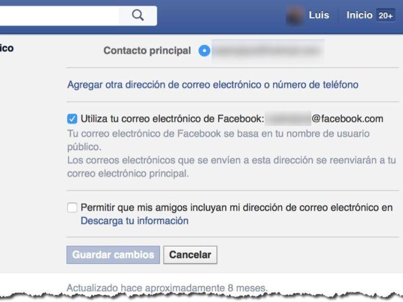 Cómo usar Facebook desde tu correo electrónico