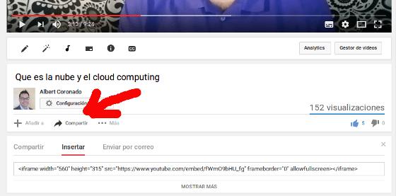 Vídeo incrustado de YouTube
