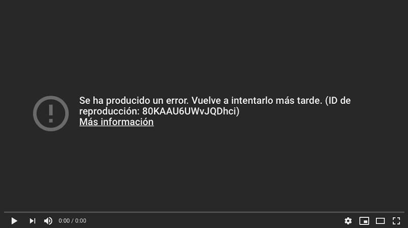 Vídeos de YouTube no se reproducen