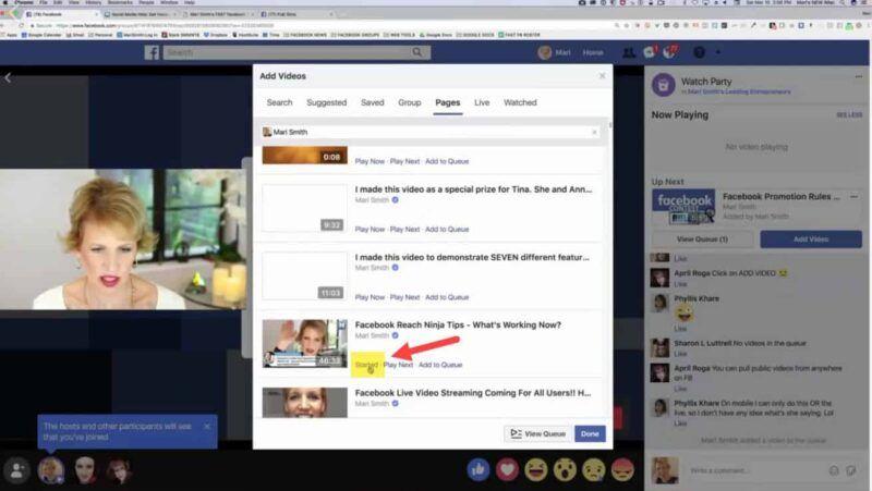 Cómo organizar una Watch Party en Facebook