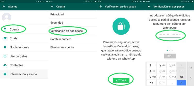 Cómo utilizar la verificación en dos pasos (2FA) en WhatsApp